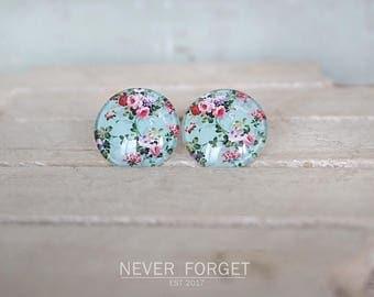 "Earrings ""Turquoise flowers '-20 mm"