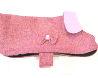 NEW IN!! Stunning Pink Parade luxury Harris Tweed coat. Fleece lining for added warmth. Beautiful suade collar for added comfort.