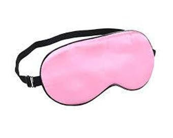 Pink Silk Sleeping Mask