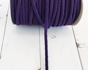NEW! Eggplant 1/2 inch Braid Nylon Spandex, Swimwear Braid  Stretchy