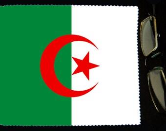 Cloth wipes Algeria flag sunglasses