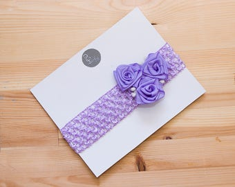 Headband for baby, headband for photo shoots, photo props for newborn, made with elements of kanzashi