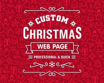 SALE! One page website and a graphic design of your choice, Christmas Deal, Christmas SALE