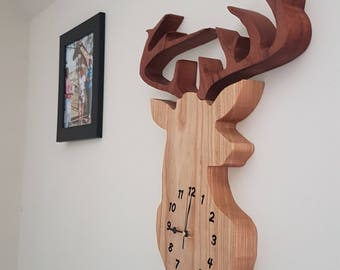 Large Stag Clock