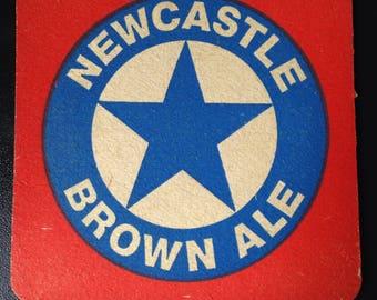 Vintage newcastle brown ale beer mat 1970's