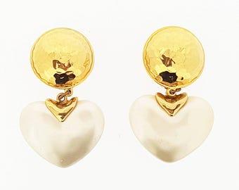 Pearl Gold Vintage Carolee Clip on Earrings