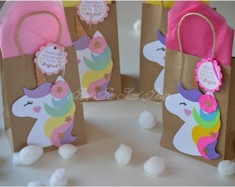 Unicorn Favor Bags / Magical Unicorn Party / Unicorn Birthday / Magical Unicorn Favor Bags