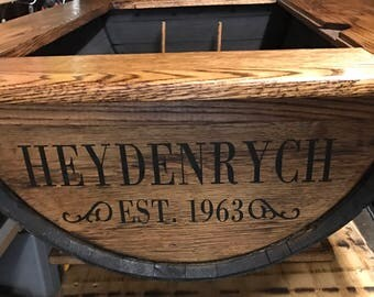 Large Painted Barrel Table Personalization