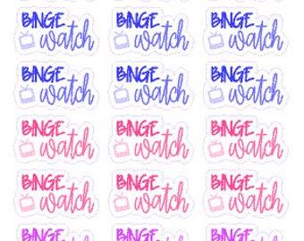 BINGE WATCH // Diary // Planner // Stickers