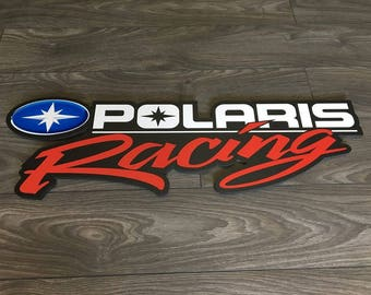 Polaris Racing PVC frame personalized ATV, snowmobile Side by side logo off-road 4 wheels