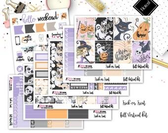 Trick or Treat | Halloween Planner Stickers | Full Weekly Vertical Kit | Erin Condren Vertical Planner