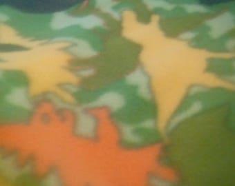 "Fleece ,Camouflage Dinosaur Baby Blanket 42"" x 26"""