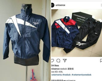 Clearance sale ! Rarest Vetements look a like Vintage Reebok classic track/active/ jackets/ 30 usd shipped worldwide .paypal ready.