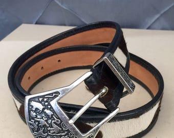 Vintage Carlos Falchi western mohair belt Size Small