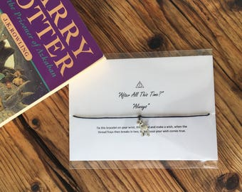 After All This Time? Always / Harry Potter / Wish Bracelet / Gift / Snape / Deathly Hallows