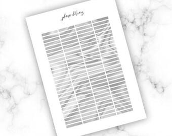 DARK GREY HEADERS // Printable / erin condren kikki k plum paper happy planner mambi dark grey marble eclp headers functional planner