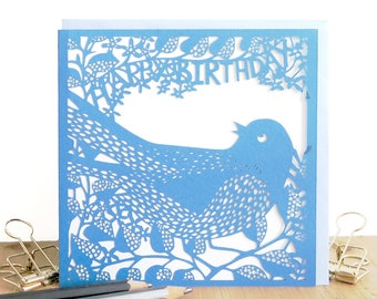 Happy birthday card, Cute birthday card, Girlfriend birthday card, Mum birthday card, Best Friend birthday card, Bird birthday card