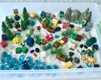 Pixel World Adventure Sensory Bin Kit