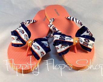 Denver Broncos Inspired Womens Flip Flops