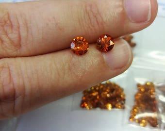 Spessartine Orange Garnet 5.5mm 1pc