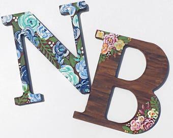 Personalized floral letter / monogram / wooden monogram