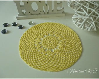 Crochet cover, hand work, crochet cover