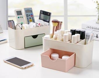 Plastic Makeup Bath Desktop Office Storage Organizer
