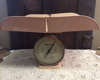 Antique Pink Chatillon Baby Scale | Nursery Decor | Baby Shower Gift