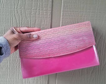 Vintage Margaret Jerrold pink clutch
