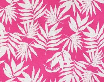Vintage Palms on Magenta Pink Jersey Knit