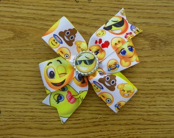 Hair Bow Handmade Pinwheel Emoticons