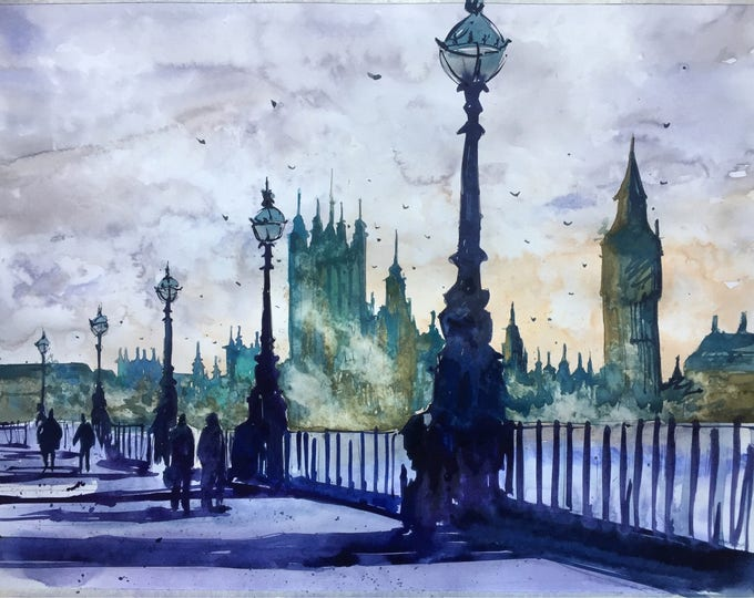 London calling in watercolours