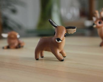 Roe Deer Figurine - Handmade Polymer Clay Cute Animal