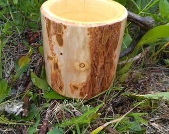Alaskan Spruce Coffee Cup, Wood Cup, Natural Cup, Wooden Cup, Housewares