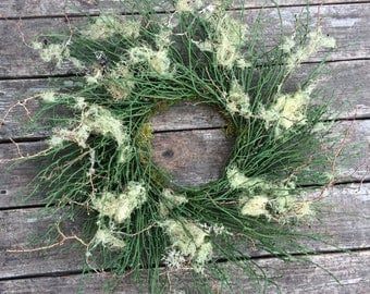 Wreath, Free Shipping Wreath, Dried Wreath,  Preserved Wreath, Fall Wreath, Lichen Wreath, Natural Decoration
