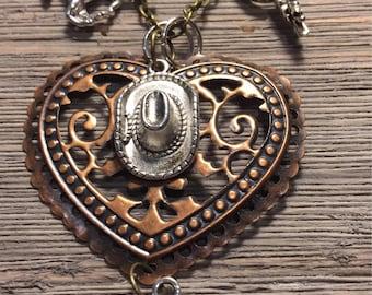Western Theme Charm Necklace
