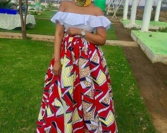 Ankara Maxi Skirt, African maxi skirt, Maxi skirt