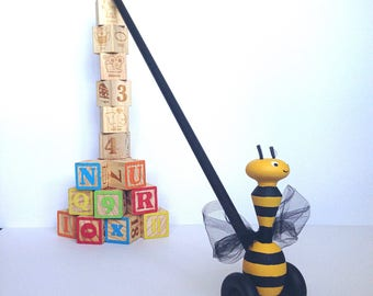 Toys for Toddler, Travel Toys, Outdoor Toys, Classic Toys, Walking, Wooden Toy, Bumble Bee Toy