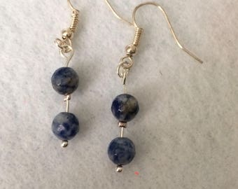Sodalite gemstone earrings