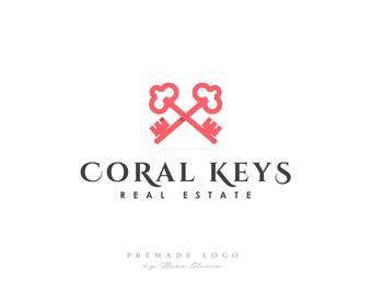 Premade Logo, Real Estate Logo, Keys Logo, Premade Design, Keys, Real Estate, Mortgage, Modern Logo, Simple, Clean Design, Keys Icon