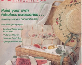Summer Sale Decorative Artists Workbook Patterns Inside August 1989 Paint Your Accessories