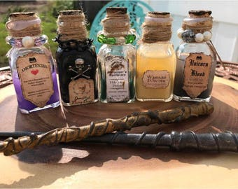 Wizard potions/collection/wizard christmas gift/harry potter inspired/party packs/NOT a Harry Potter licensed or affiliated product!