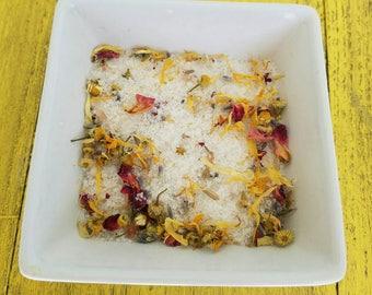 Bath Soak / Herbal Bath Soak/ Bath Salts / Botanical Bath / Sitz Bath / Epsom Salt Soak / Gift for Her / Gift Under 20 / Spa Gift / Bath Tub