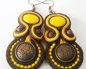 Soutache earrings african inspired
