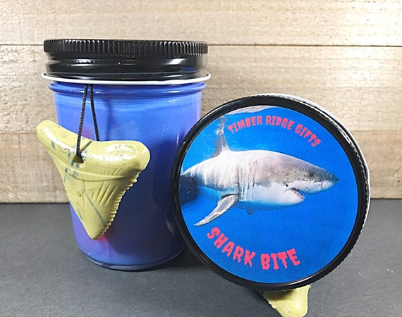 Shark Week - Shark Bite - Shark Candle - Shark Tooth - Horror Candle - Ocean Candle - Soy Candles Handmade - Bloody - Animal Candles