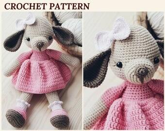 Crochet Pattern Dog Puppy Amigurumi Dog Pattern Crochet Dog 2018 Year Symbol Stuffed Animal Pattern Knitted Animals Baby Shower Toy Doll