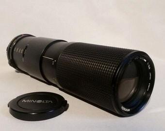 Vintage Minolta MD Zoom 100-200mm 1:5.6 55mm Japan Zoom Lens With Caps