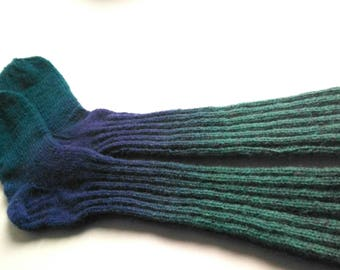 Wool long sock Knit socks Handmade socks Warm wool socks Winter socks Hand knitted socks Natural wool socks