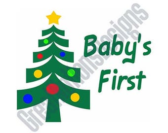 Baby's First Christmas - SVG - HTV - Vinyl Cutting Graphic Art
