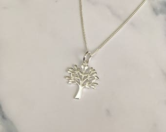 Sterling Silver necklace with Tree of Life charm
